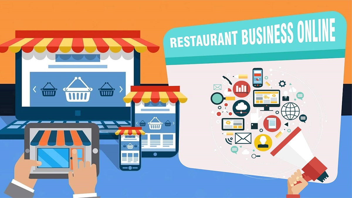 online restaurant business app website tablet